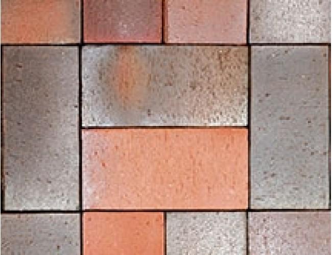 Тротуарный клинкер (брусчатка) Roben ALTONA, сине-красный