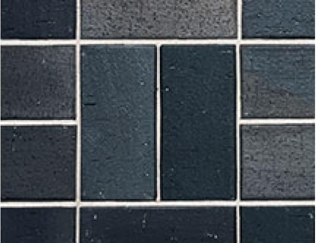 Тротуарный клинкер (брусчатка) Roben SCHWABING, черный обожженый