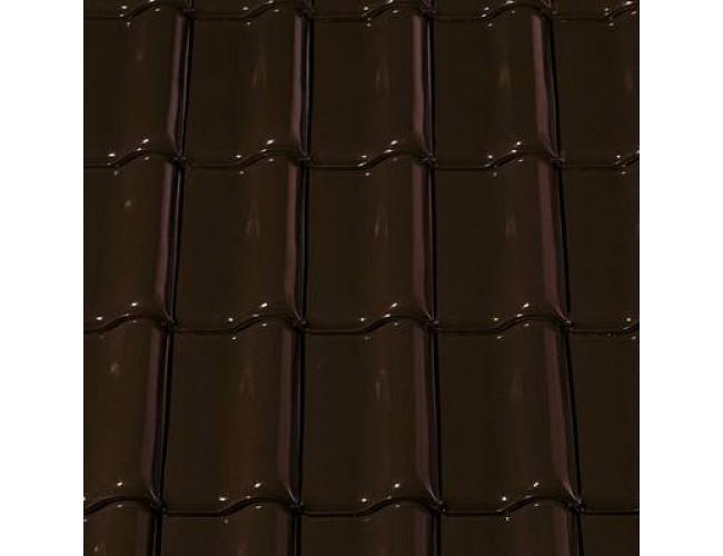 Керамическая черепица Creaton FUTURA Noblesse, коричневый