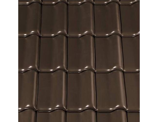 Керамическая черепица Creaton MZ3 Nuance, коричневый