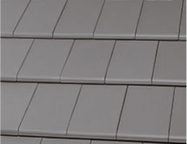 Керамическая черепица Roben BERGAMO grau-matt im Verband verlegt, серый матовый