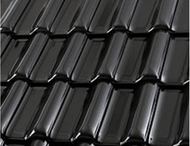 Керамическая черепица Roben FLANDERNplus schwarz-matt, черный матовый