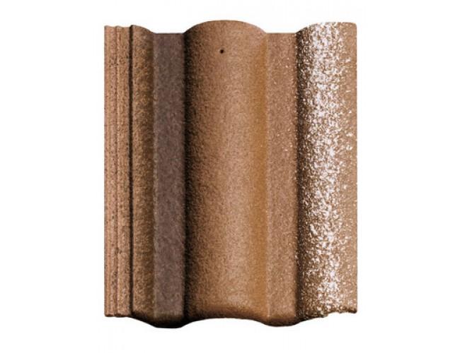 Цементно-песчаная черепица BRAАS Адриа, коричневый