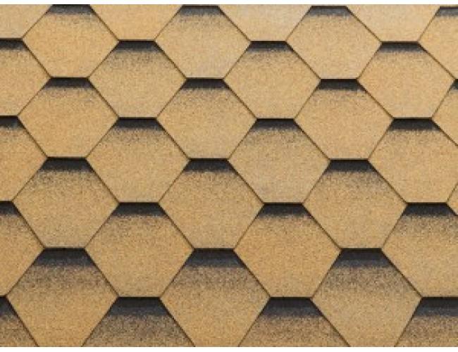 Гибкая черепица KATEPAL Katrilli, Золотой песок