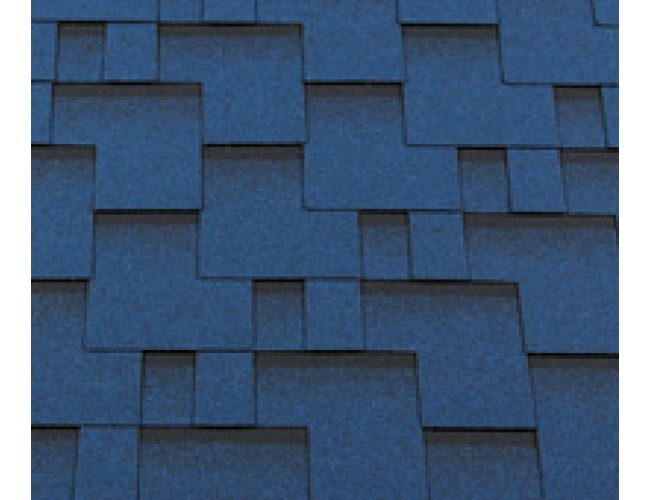 Гибкая черепица Roofshield Classic Modern, синий