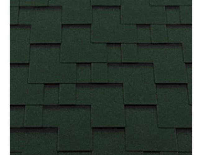 Гибкая черепица Roofshield Classic Modern, зеленый с оттенением