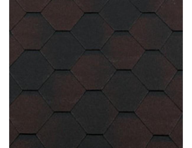 Гибкая черепица Roofshield Classic Standart, коричневый антик