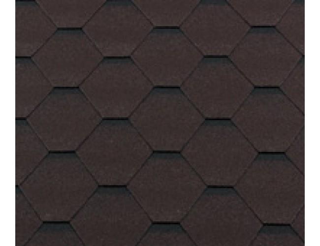Гибкая черепица Roofshield Classic Standart, коричневый с оттенением