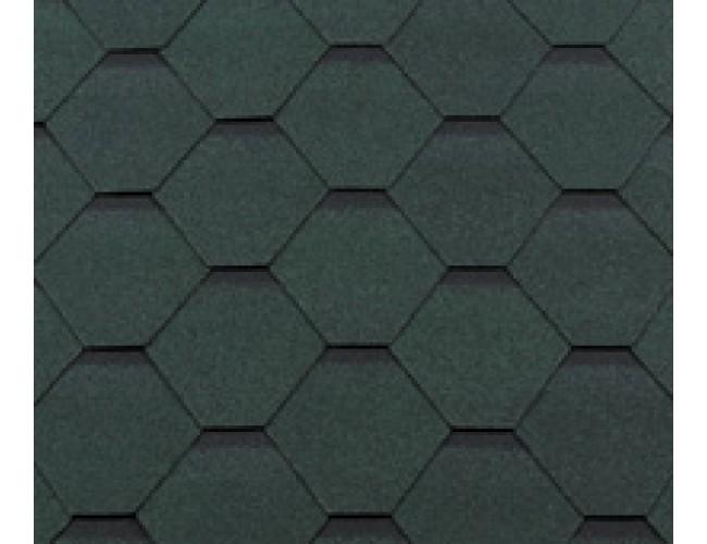 Гибкая черепица Roofshield Classic Standart, зеленый антик