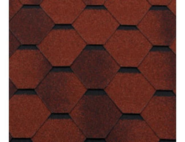 Гибкая черепица Roofshield Classic Standart, кирпично-красный антик