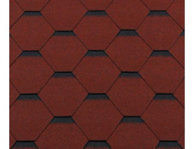 Гибкая черепица Roofshield Classic Standart, кирпично-красный с оттенением