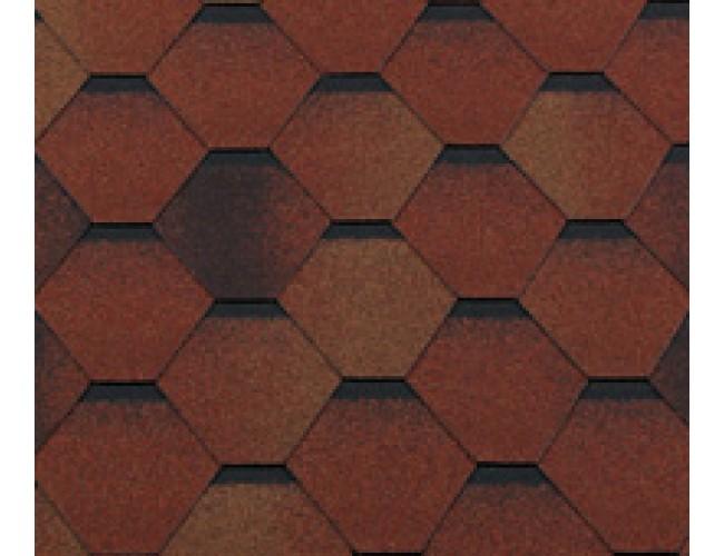 Гибкая черепица Roofshield Classic Standart, коричнево-красный