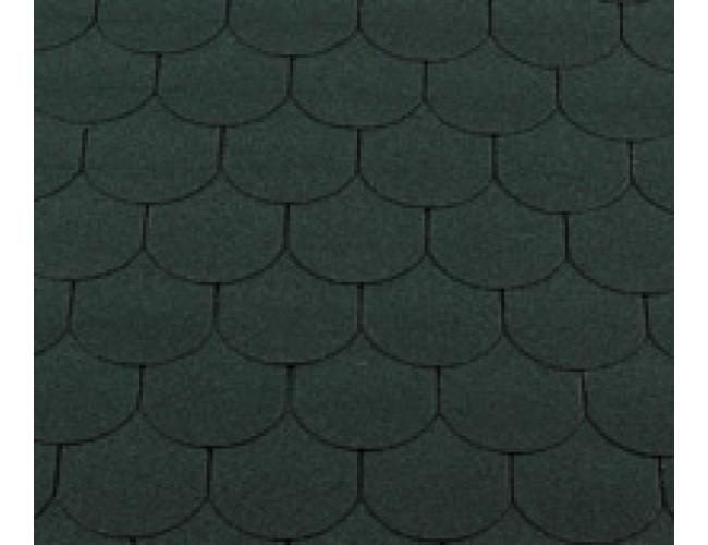 Гибкая черепица Roofshield Family Lite Gothic, зеленый