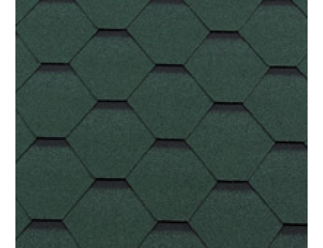 Гибкая черепица Roofshield Family Lite Standart, зеленый с оттенением