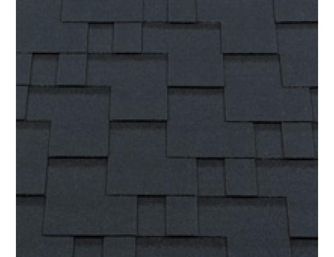 Гибкая черепица Roofshield Premium Modern, бархатно-черный