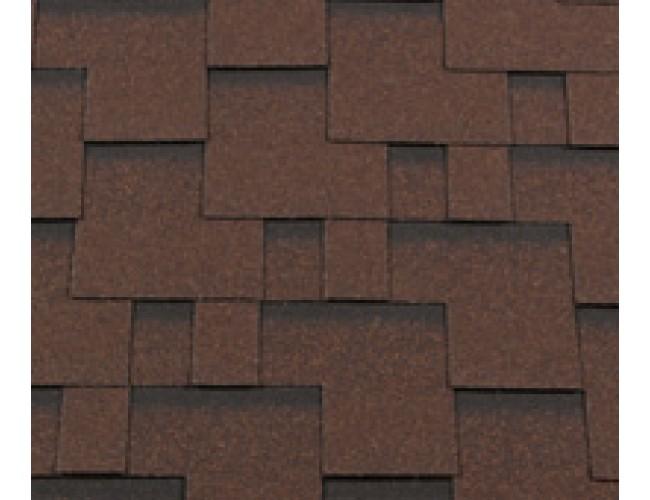 Гибкая черепица Roofshield Premium Modern, коричневый с оттенением