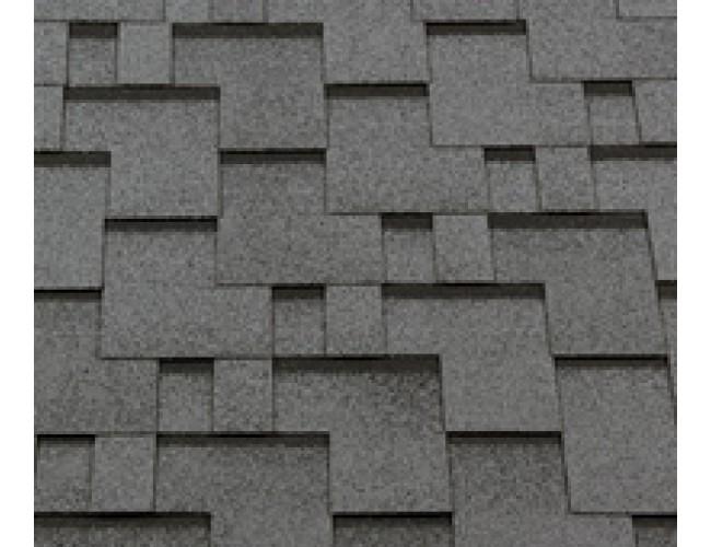 Гибкая черепица Roofshield Premium Modern, серый с оттенением