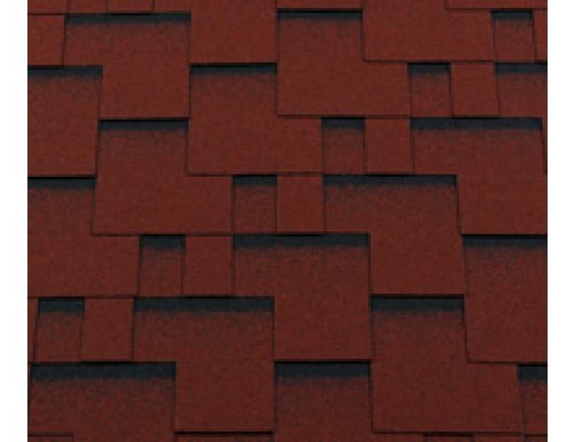 Гибкая черепица Roofshield Premium Modern, красный с оттенением