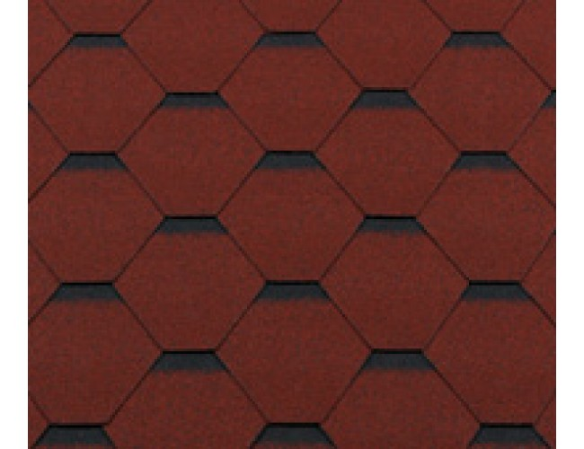 Гибкая черепица Roofshield Premium Standart, кирпично-красный с оттенением