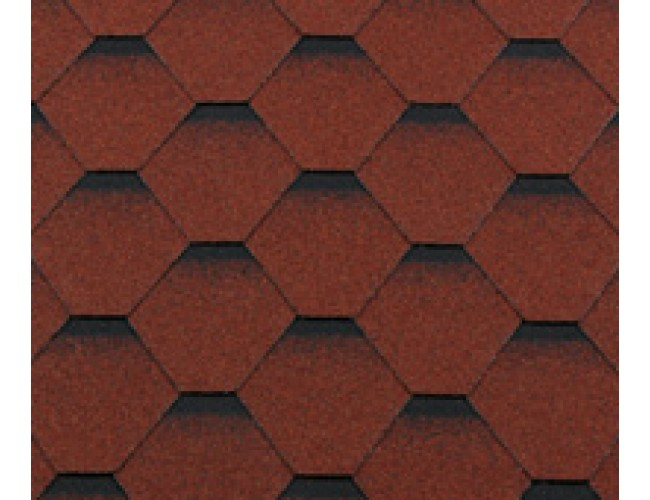 Гибкая черепица Roofshield Premium Standart, красный с оттенением
