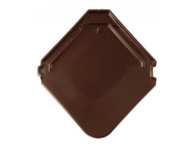 Керамическая черепица BRAАS Изумруд, тик (коричневый)