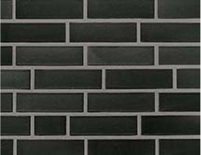 Керамический клинкерный кирпич Roben FARO черный с оттенком, гладкий