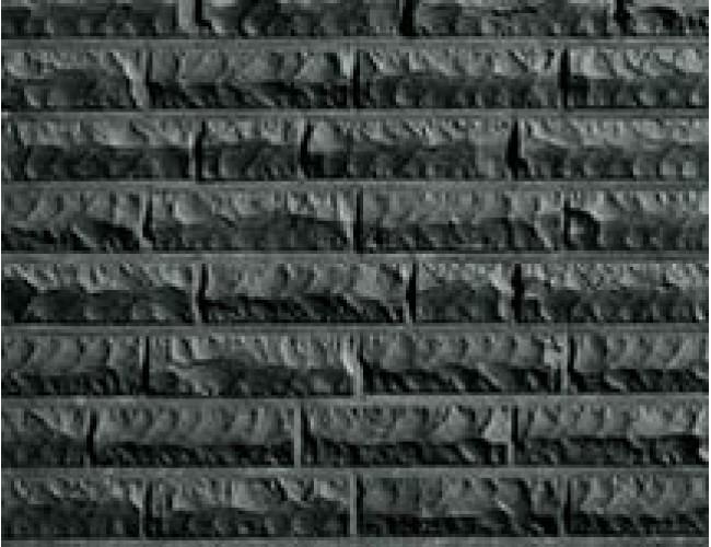 Керамический клинкерный кирпич Roben QUEBEC черный с оттенком, рустованный