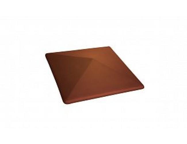 Клинкерный колпак для столба LODE Cameleo, малый пестрый светло-красный