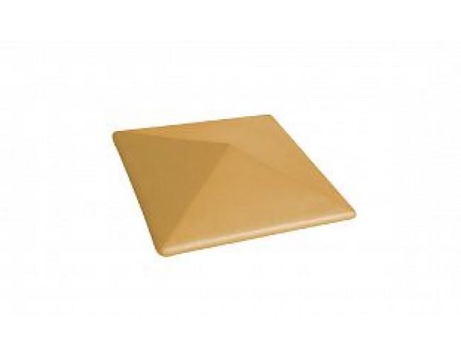 Клинкерный колпак для столба LODE Dzintra, малый темно-желтый