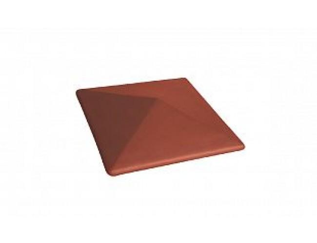 Клинкерный колпак для столба LODE Libra, малый темно-красный