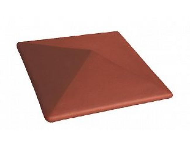 Клинкерный колпак для столба LODE Libra, большой темно-красный