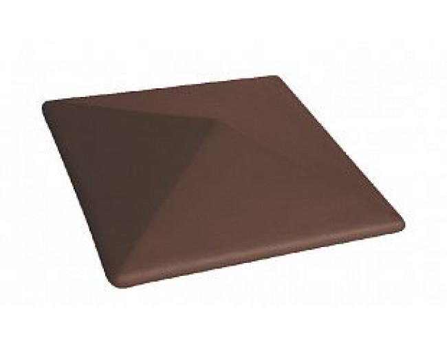 Клинкерный колпак для столба LODE Taurus, большой коричневый