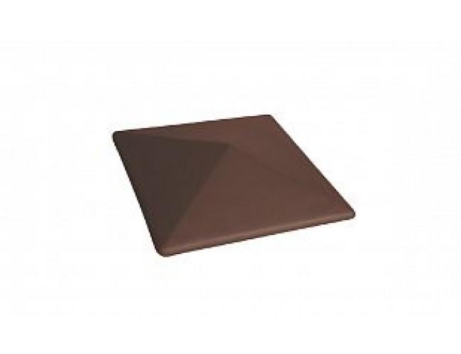 Клинкерный колпак для столба LODE Taurus, малый коричневый