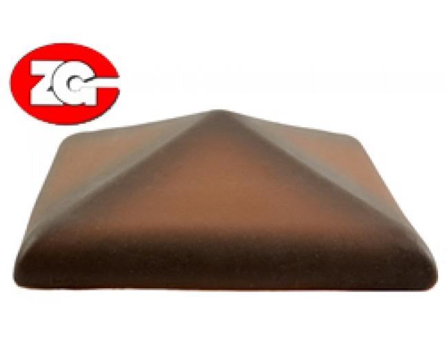 Клинкерный колпак для столба ZG Klinker, каштановый
