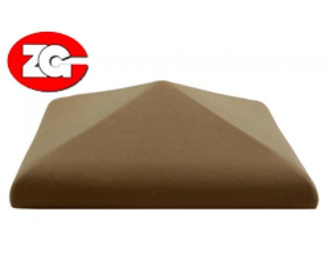 Клинкерный колпак для столба ZG Klinker, коричневый