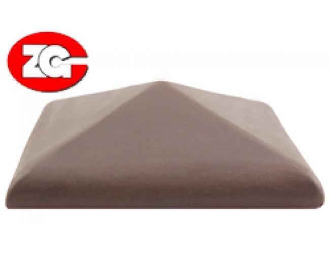 Клинкерный колпак для столба ZG Klinker, вишневый
