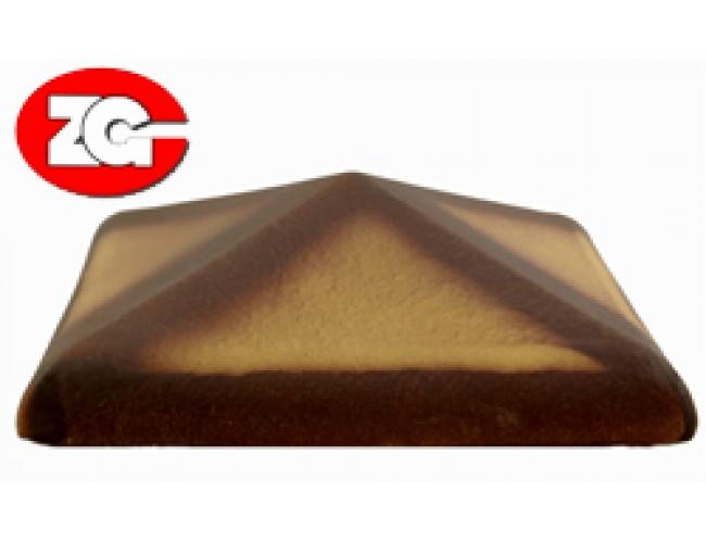 Клинкерный колпак для столба ZG Klinker, желтый тушевой