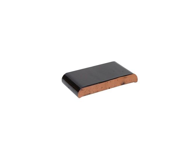 Парапетная клинкерная плитка ZG Klinker, КР20 темно-коричневый