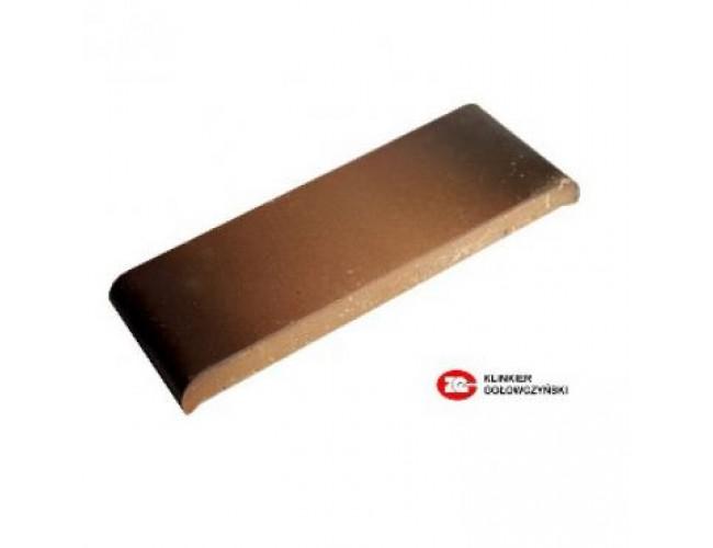 Парапетная клинкерная плитка ZG Klinker, КР30 каштановый