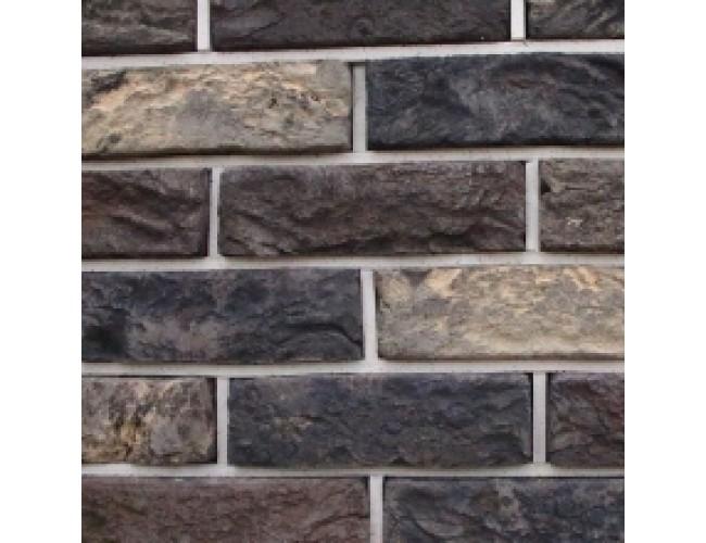 Керамическая плитка под кирпич TonStein Bavariya-Titan Pepel Mix, серо-желто-коричневый, пестрый