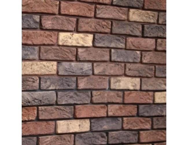 Керамическая плитка под кирпич TonStein Bavariya-Titan Mix, желто-коричневый, пестрый