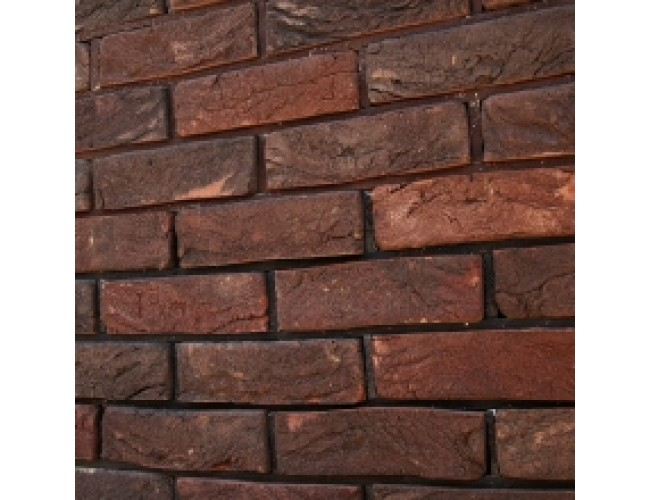 Кирпич ручной TonStein Bavariya, темно-коричневый, пестрый