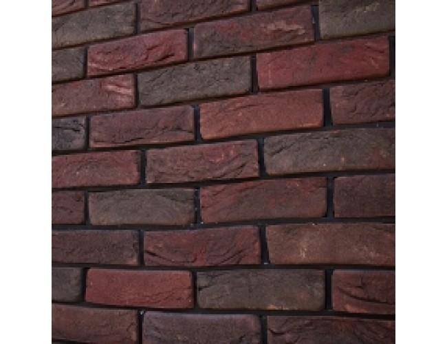Керамическая плитка под кирпич TonStein Milan, бордовый, пестрый