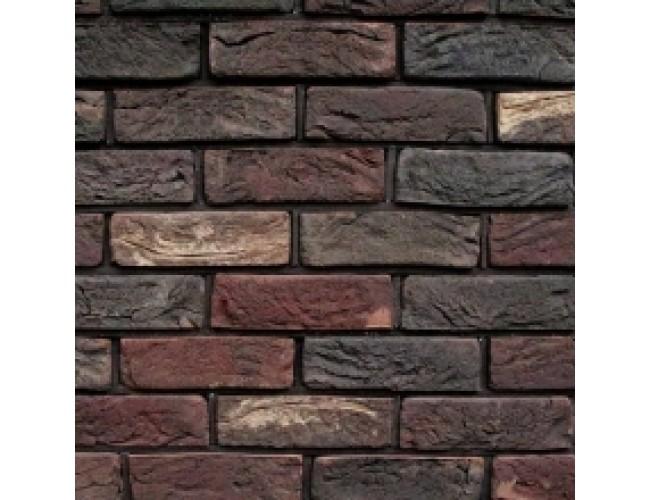 Керамическая плитка под кирпич TonStein Milan-Titan Mix, темно-бордовый, пестрый