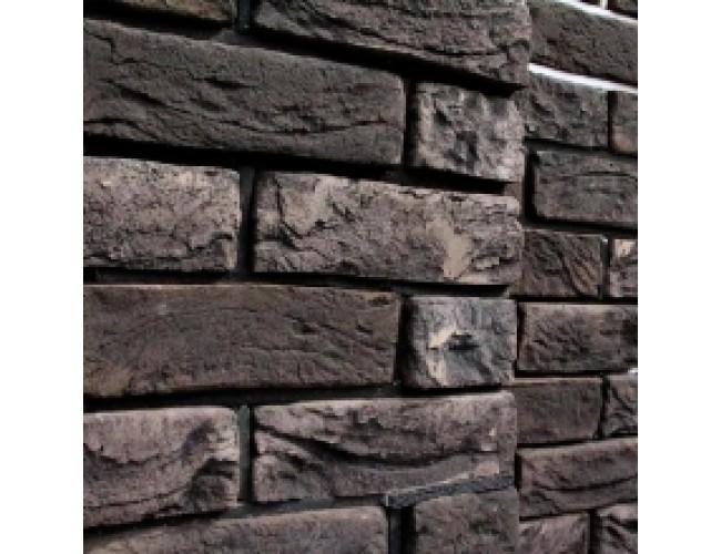 Керамическая плитка под кирпич TonStein Pepel, серо-черный, пестрый