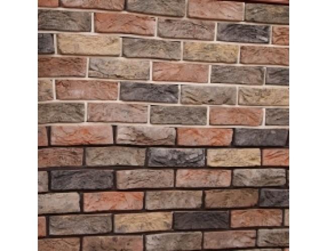 Керамическая плитка под кирпич TonStein Pepel-Sahara-Titan Mix, серо-желто-черный, пестрый