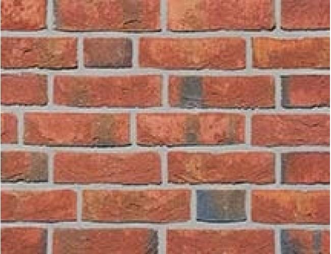 Клинкерная плитка под кирпич ручной формовки Roben WASSERSTRICH hellrot-bunt, светло-красный пестрый