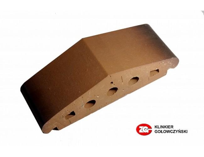 Профильный клинкерный кирпич ZG Klinker К25, каштановый