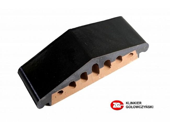 Профильный клинкерный кирпич ZG Klinker К25, темно-коричневый