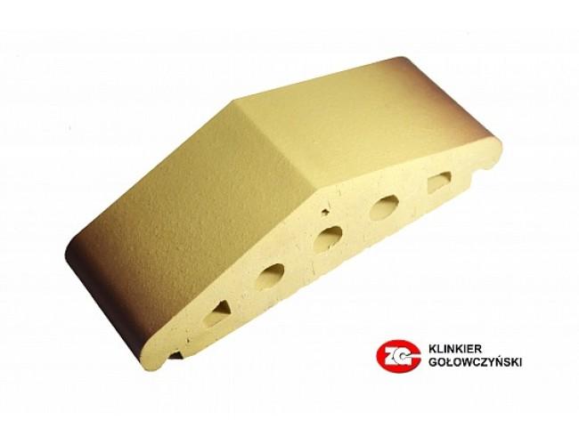 Профильный клинкерный кирпич ZG Klinker К25, желтый тушевой